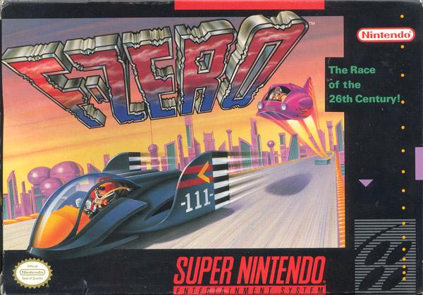 tradicional capa do jogo F-Zero