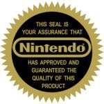 O selo de qualidade (e exclusividade) da Nintendo.